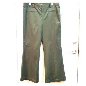 LOFT ANN TAYLOR 18L Green Trousers NEW